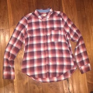 Red and white pocket flannel